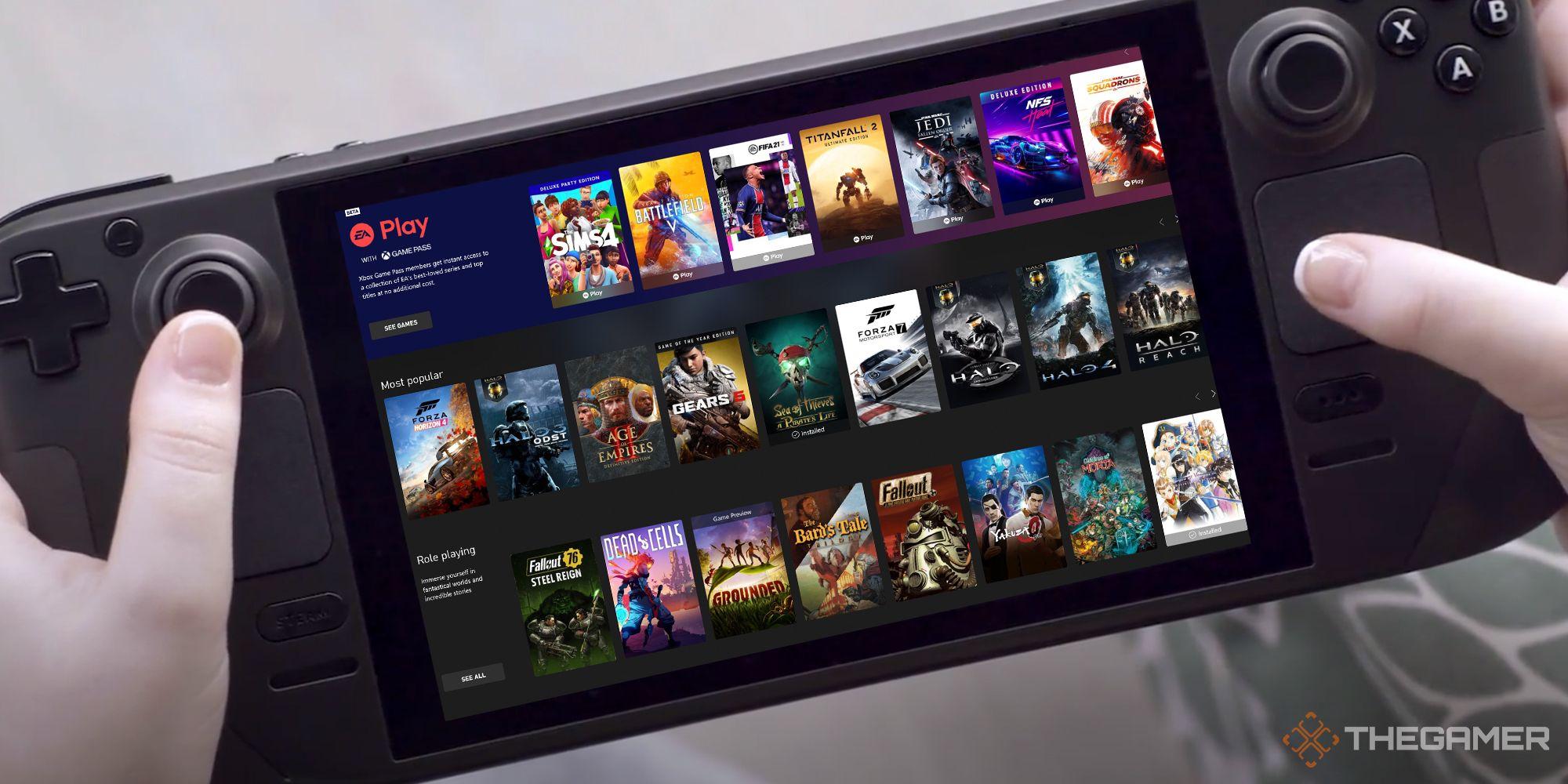 ¿Xbox Game Pass funcionará en Steam Deck?