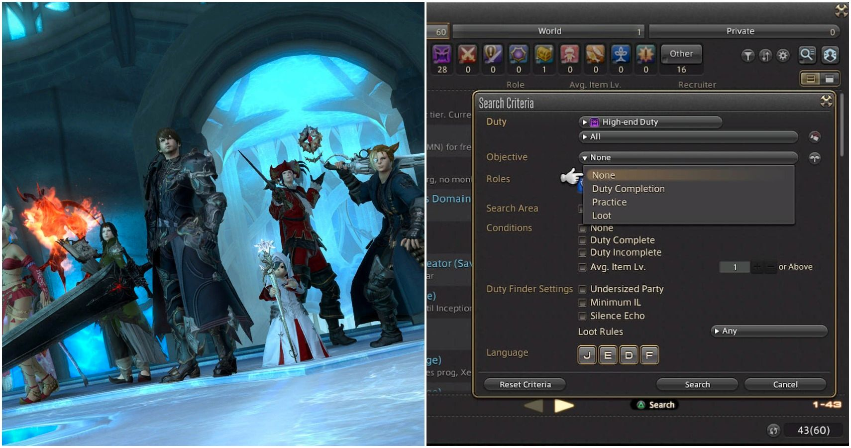 Final Fantasy 14: Cómo usar el Buscador de fiestas
