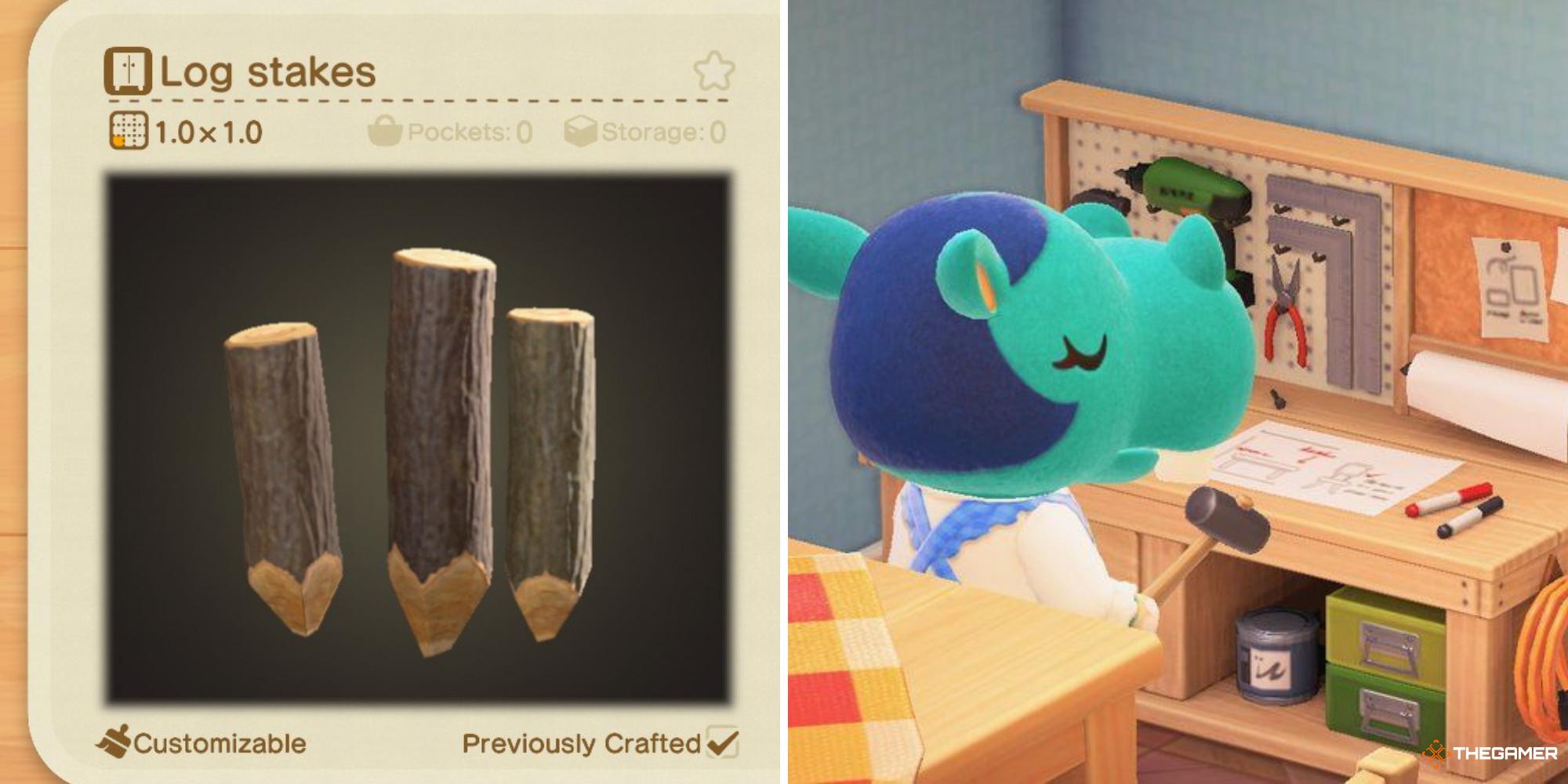 Animal Crossing: dónde conseguir estacas para troncos