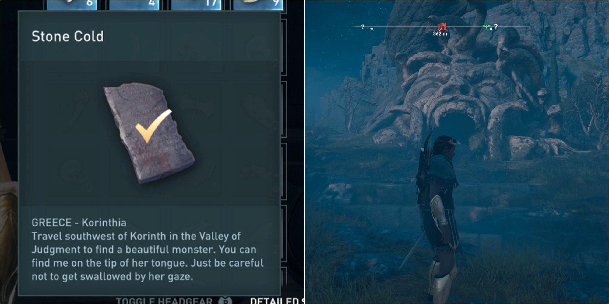 Assassin's Creed Odyssey: Cómo resolver el acertijo de piedra fría