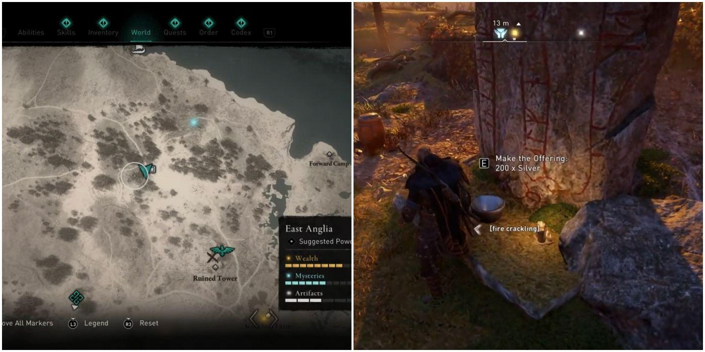 Assassin's Creed Valhalla: una guía de todos los altares de ofrendas y dónde se encuentran