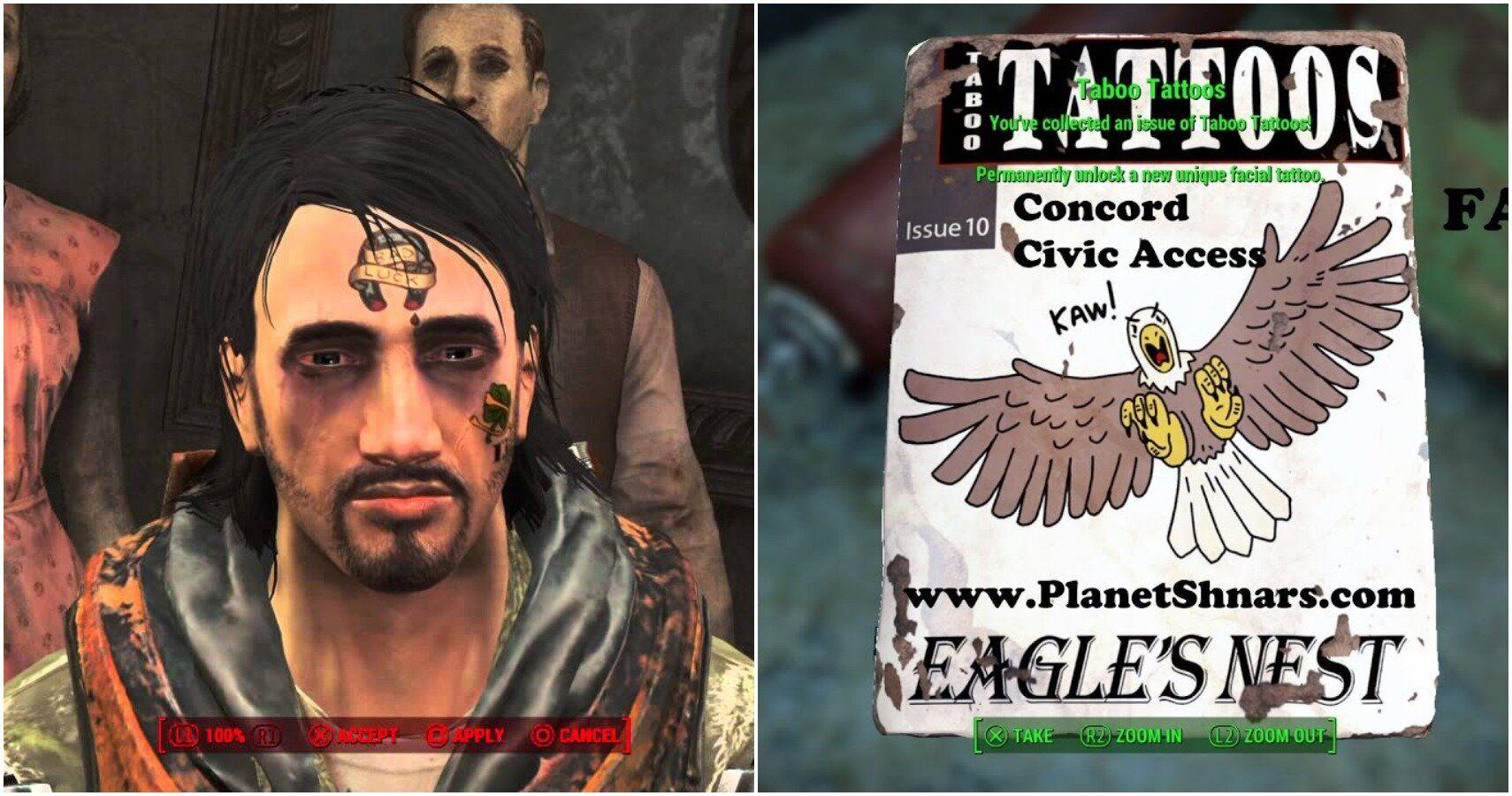 Fallout 4: cómo hacerse tatuajes y dónde coleccionar sus revistas