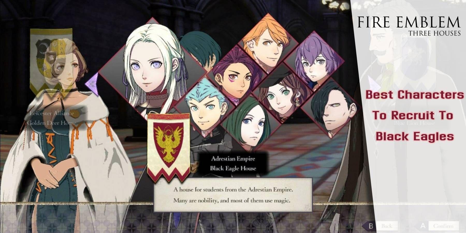 Fire Emblem Three Houses: los mejores personajes para reclutar para Black Eagles y cómo conseguirlos