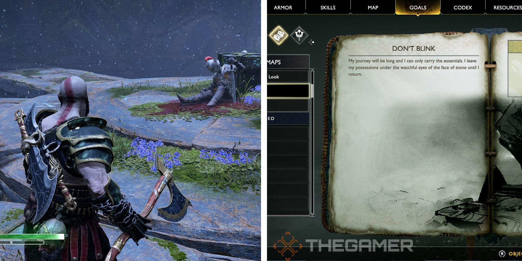 God Of War: Don't Blink Treasure Map Guide