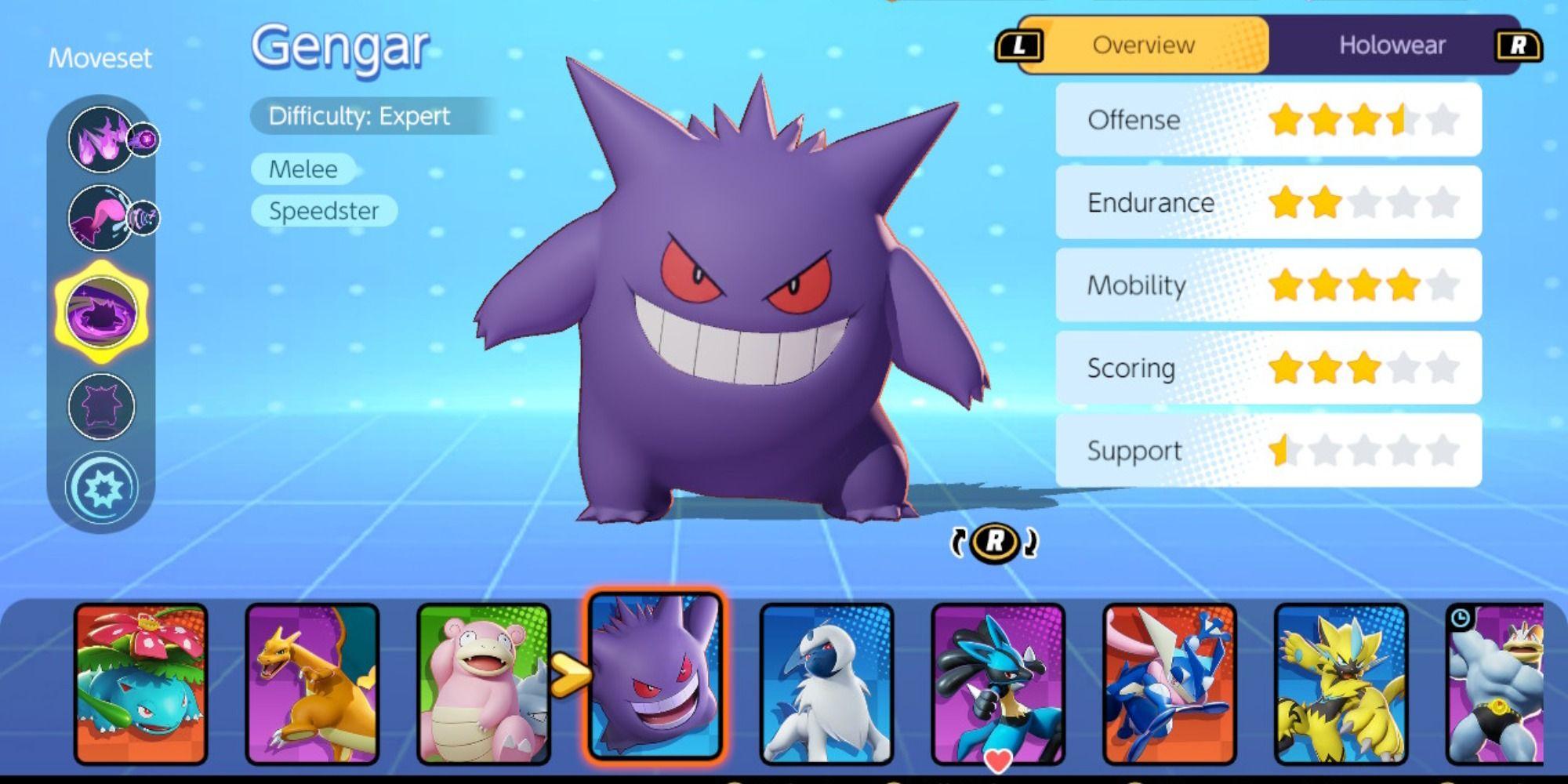 Guía de construcción de Pokémon Unite Gengar