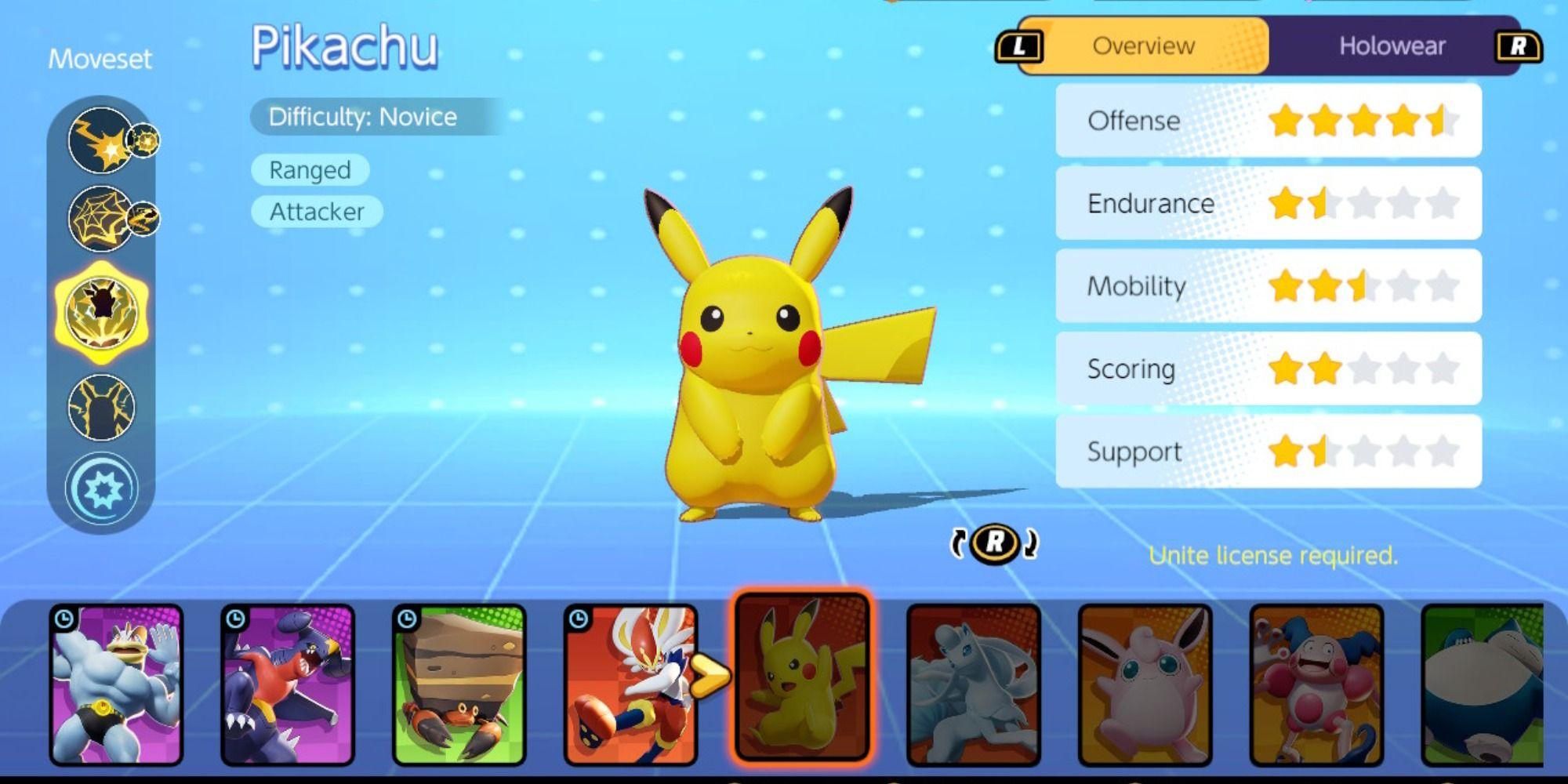 Guía de construcción de Pokémon Unite Pikachu
