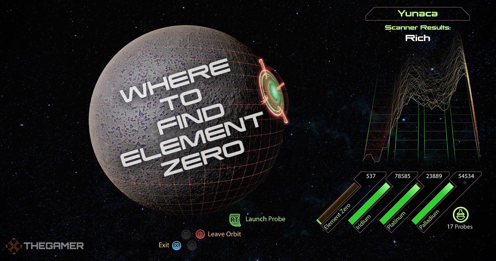 Mass Effect 2: Dónde encontrar el elemento cero