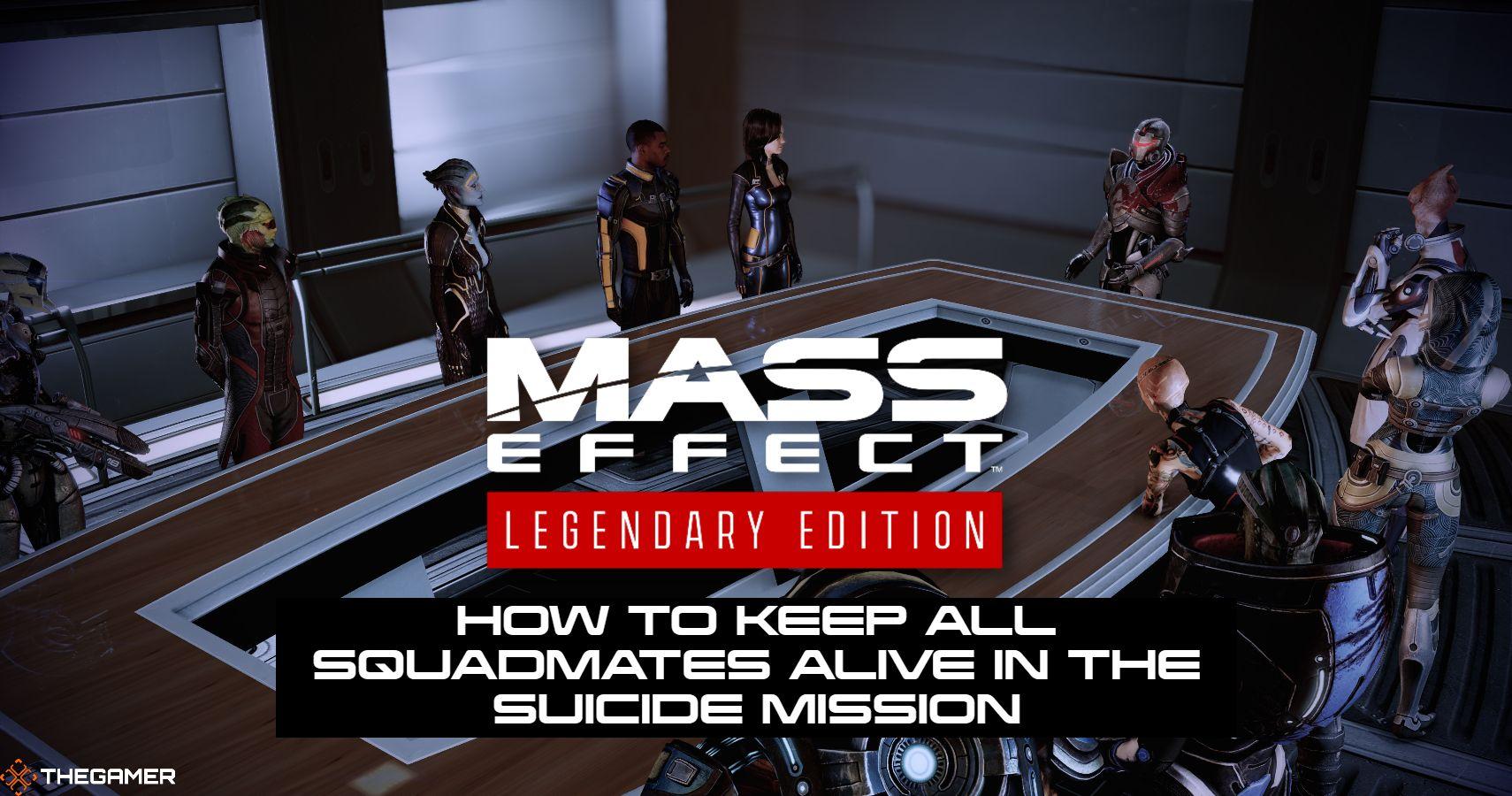 Mass Effect 2 LE: Cómo mantener vivos a todos los compañeros de escuadrón en la misión suicida