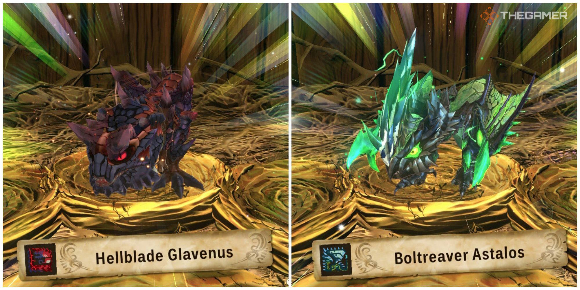 Monster Hunter Stories 2: Cómo obtener Hellblade Glavenus y Boltreaver Astalos