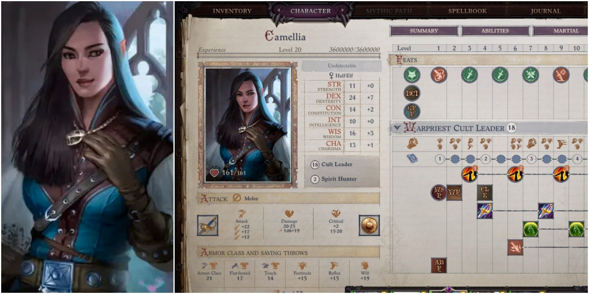 Pathfinder: Wrath of the Righteous - Best Camellia Builds