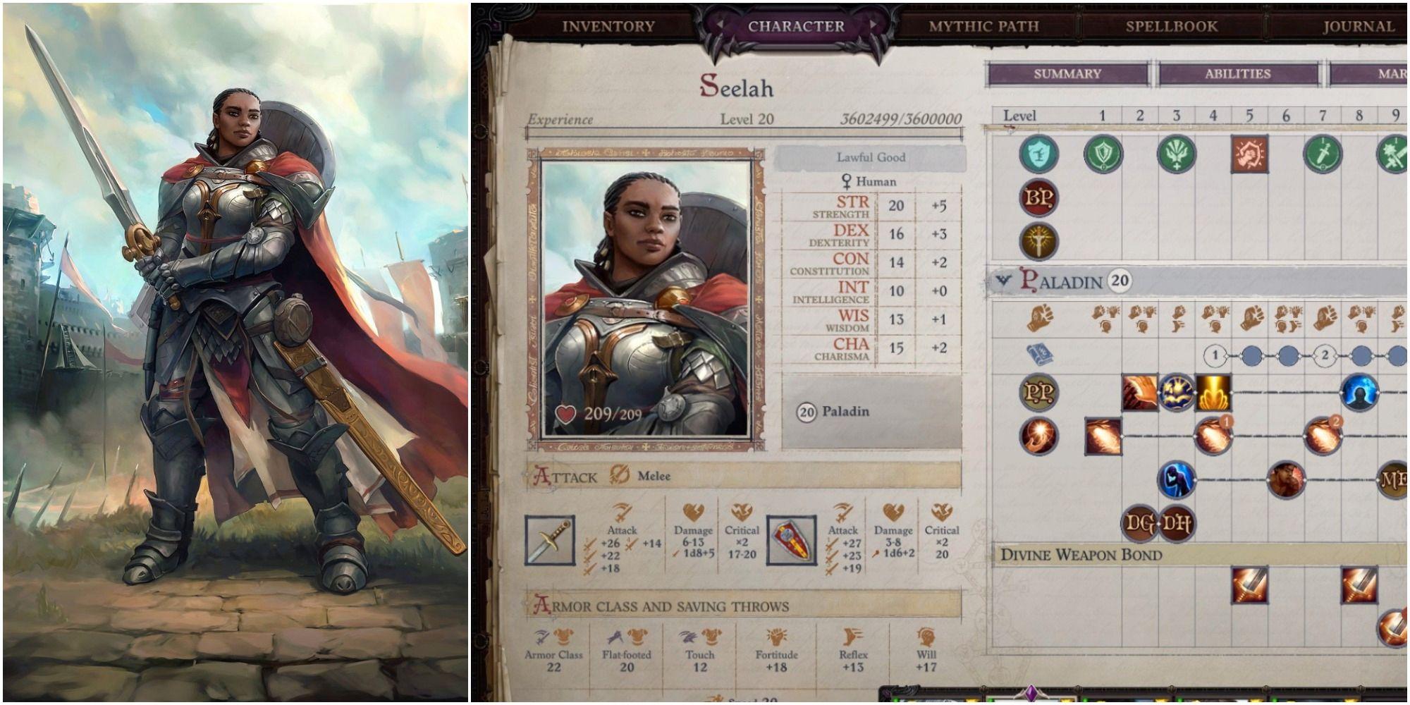 Pathfinder: Wrath of the Righteous - Mejores construcciones de Seelah
