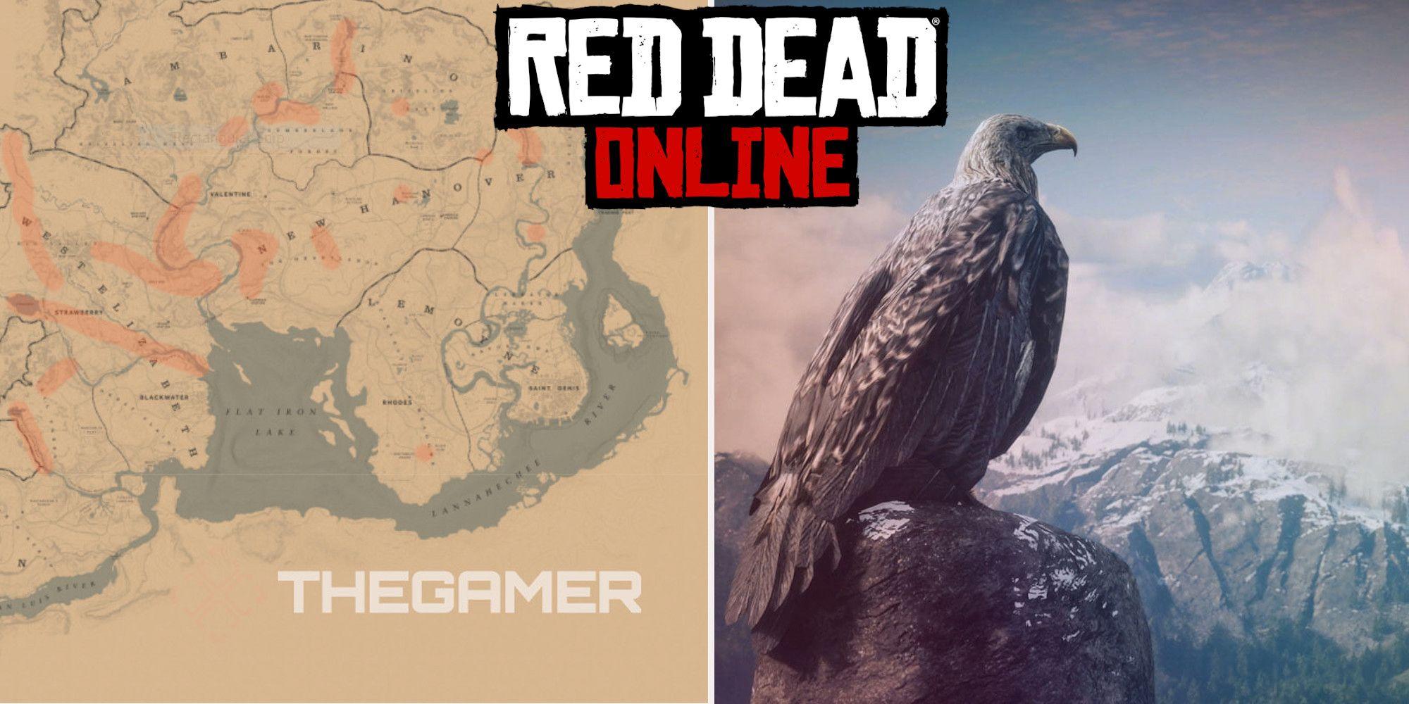 Red Dead Online: las mejores ubicaciones de caza de águilas