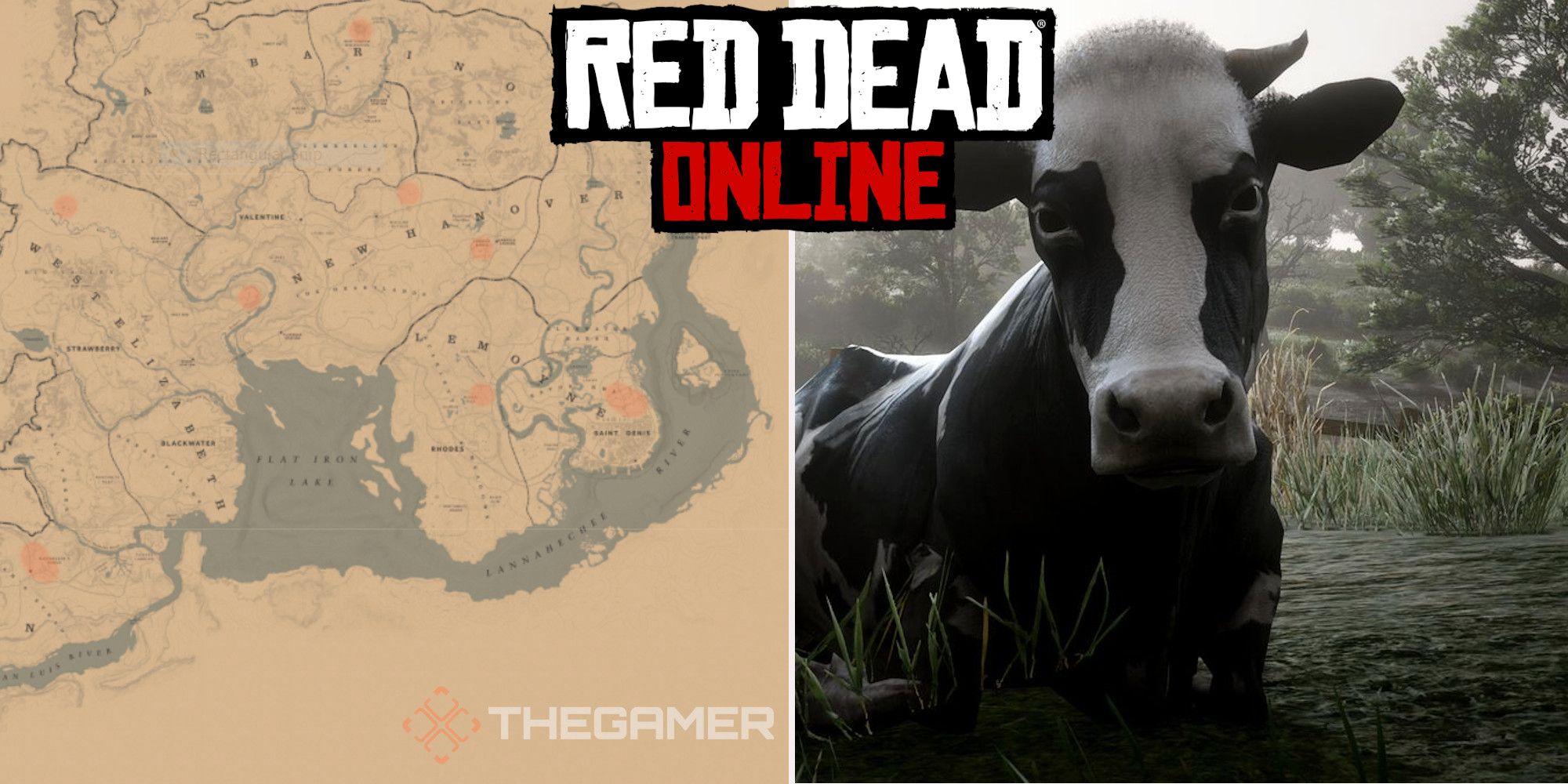 Red Dead Online: mejores ubicaciones de vacas