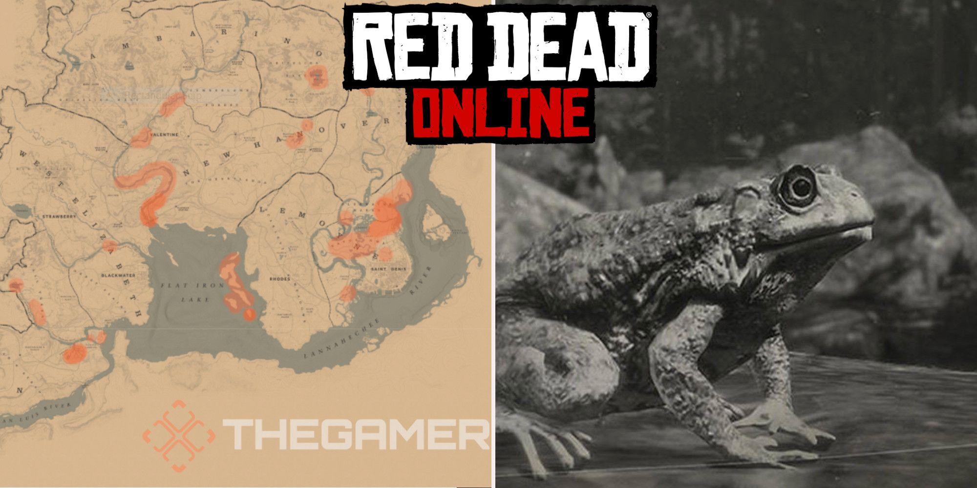 Red Dead Online: ubicaciones de caza de sapos de Best Western