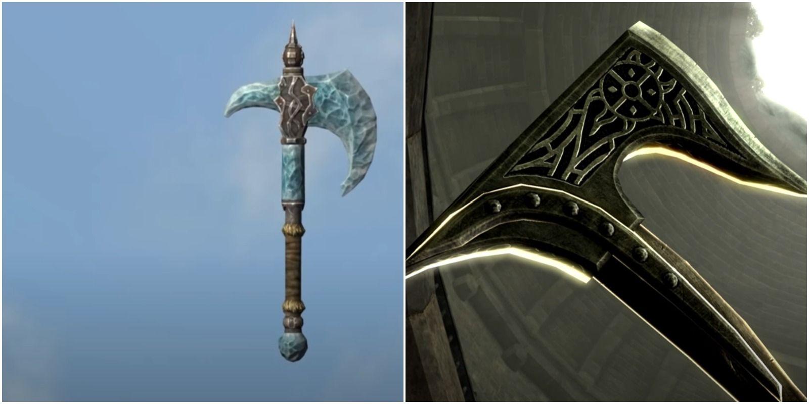 Skyrim: las mejores hachas de guerra para usar