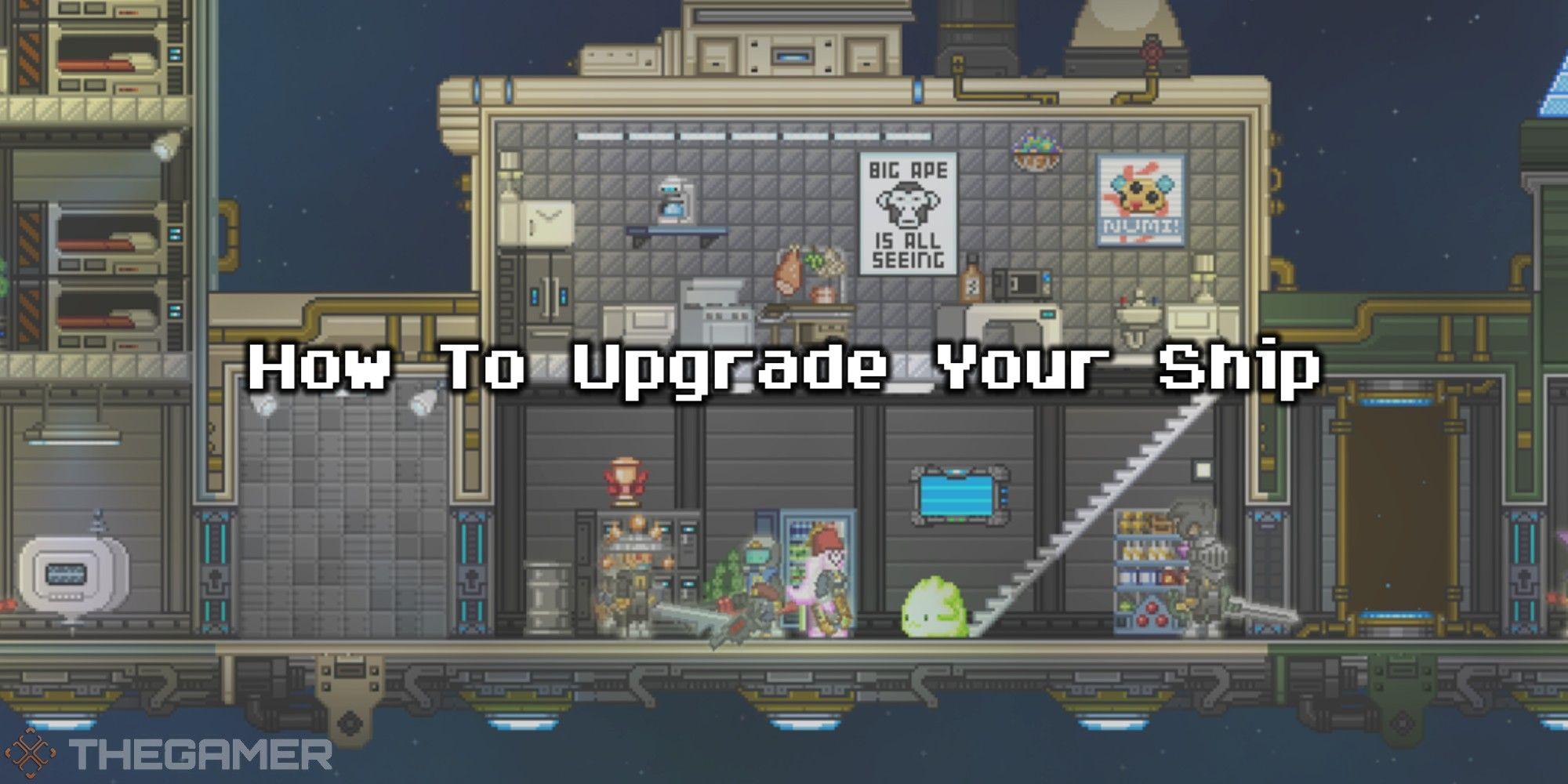 Starbound: Cómo actualizar su barco