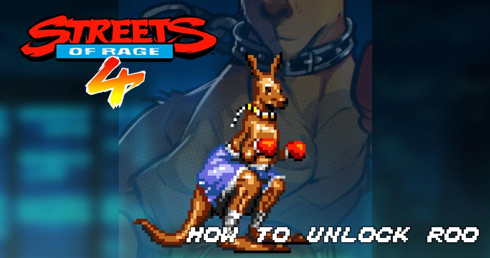 Streets of Rage 4 Mr.X Nightmare - Cómo desbloquear a Roo