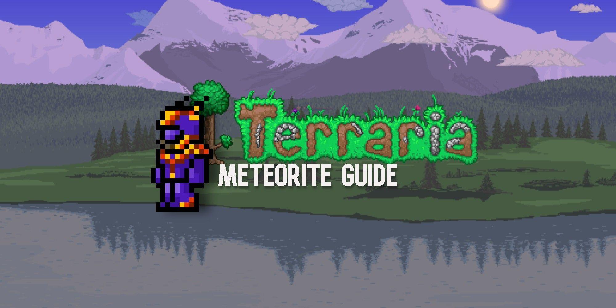 Terraria: Cómo hacer que los meteoritos aparezcan en Terraria