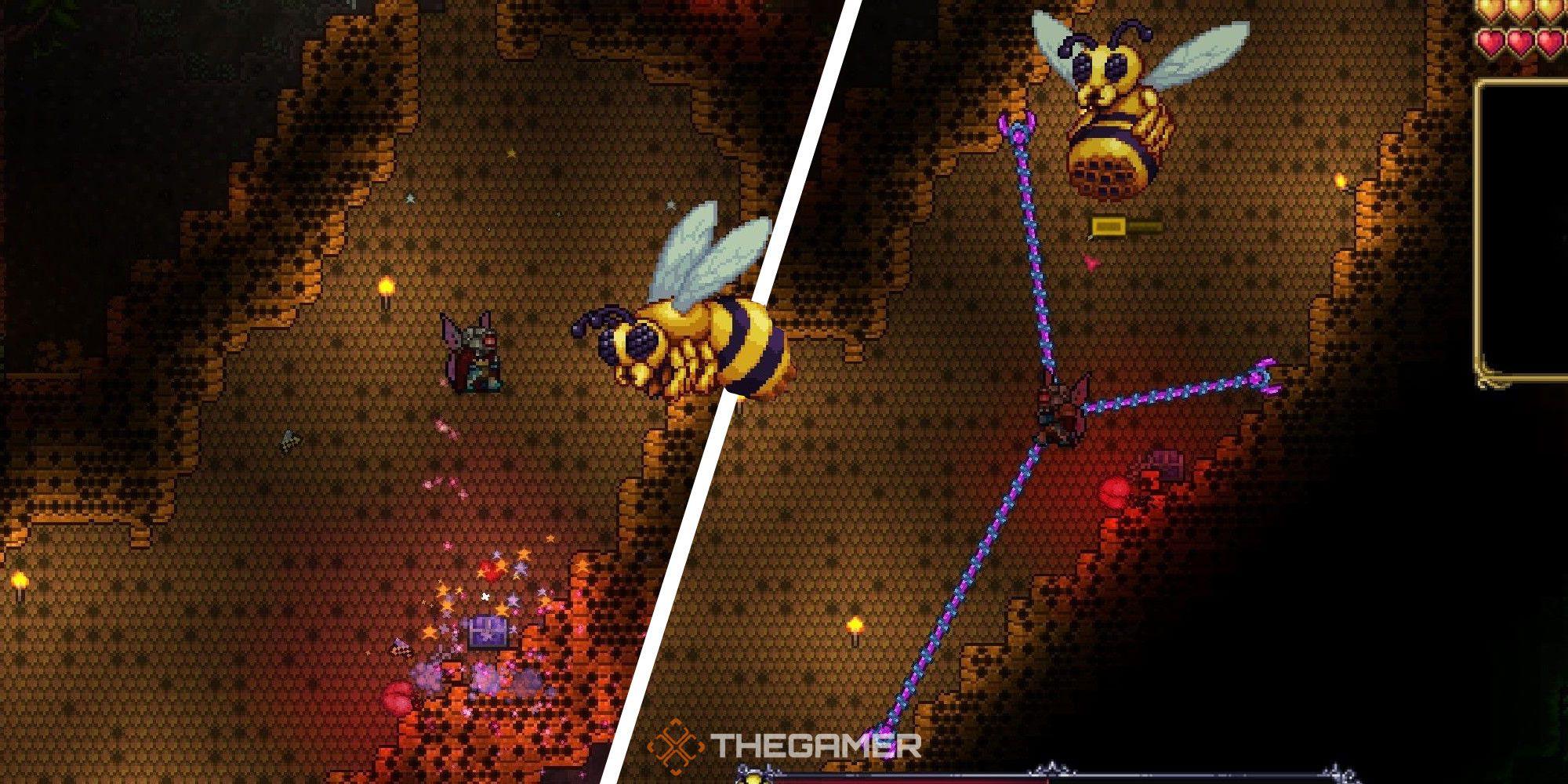 Terraria: guía del jefe de la abeja reina