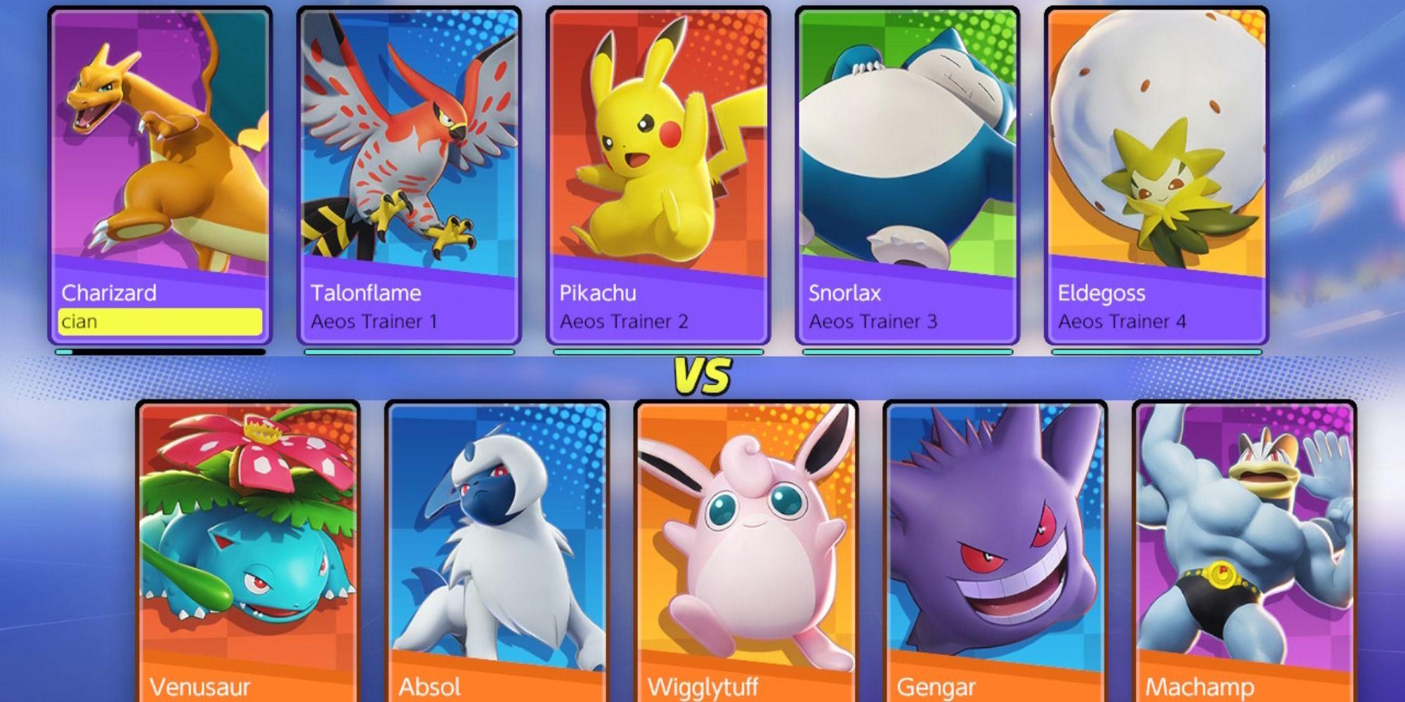 Todos los Pokémon de Pokémon Unite