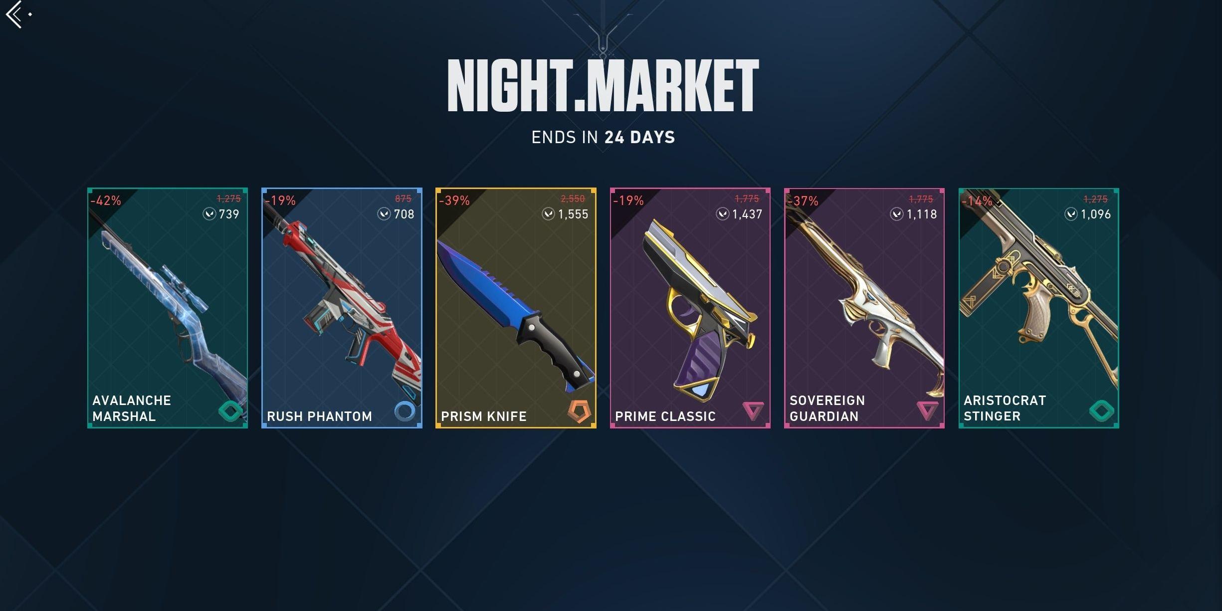 Valorant: ¿Qué es el mercado nocturno?