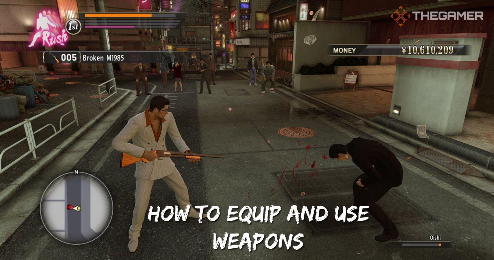 Yakuza 0: Cómo equipar y usar armas